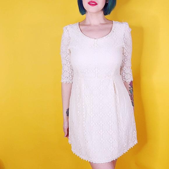 Miss Chievous Dresses & Skirts - Ivory Lace Mini Dress